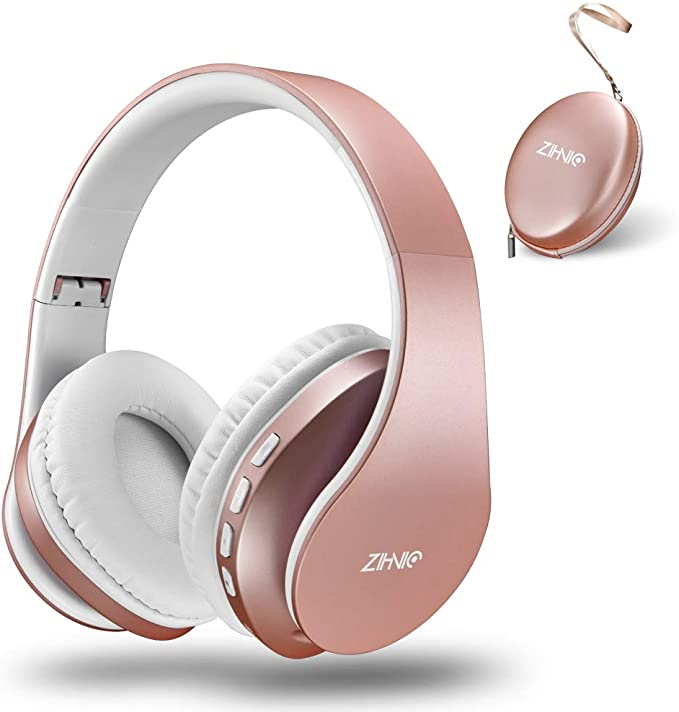 Bluetooth Over-Ear Headphones Zihnic Foldable Wireless and Wired Stereo Headset