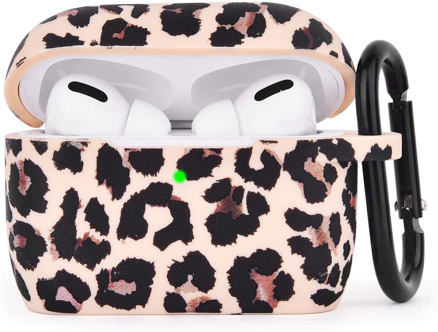 AIRSPO Silicone Cover Compatible AirPods Pro Case Floral Print