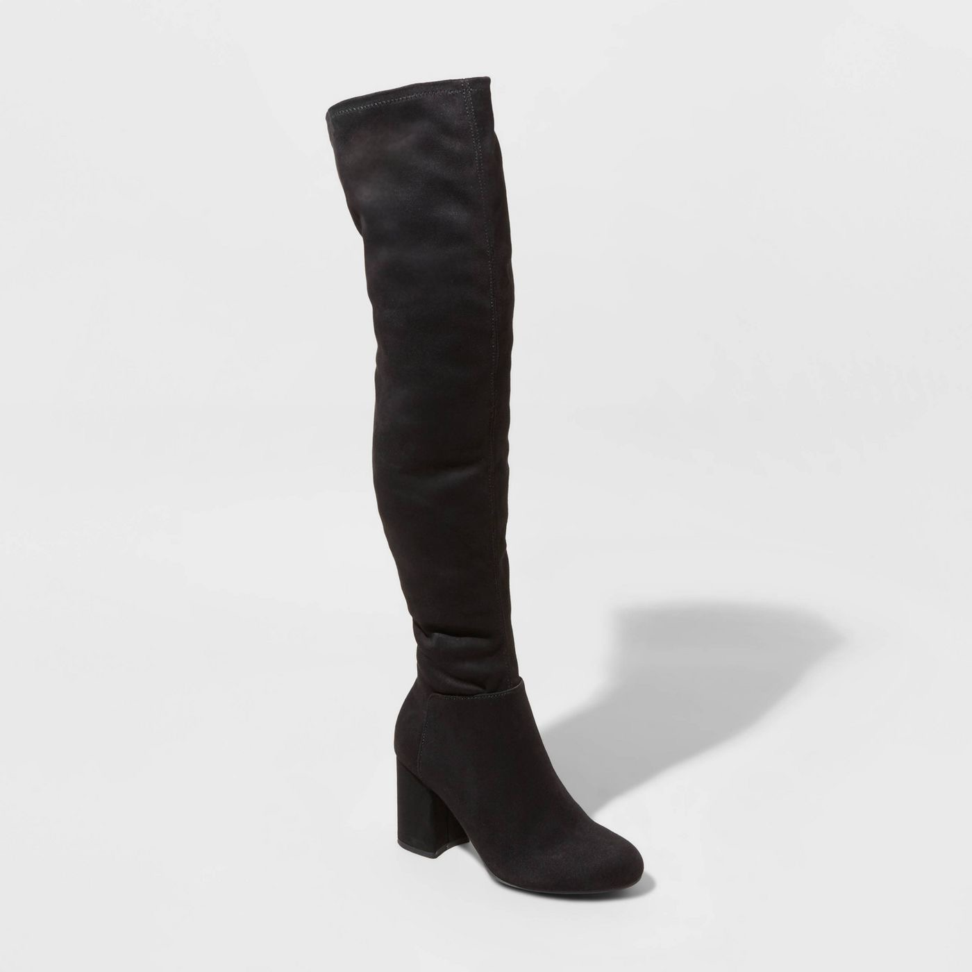 Women's Tonya Microsuede Heeled Fashion Boots - A New Day
