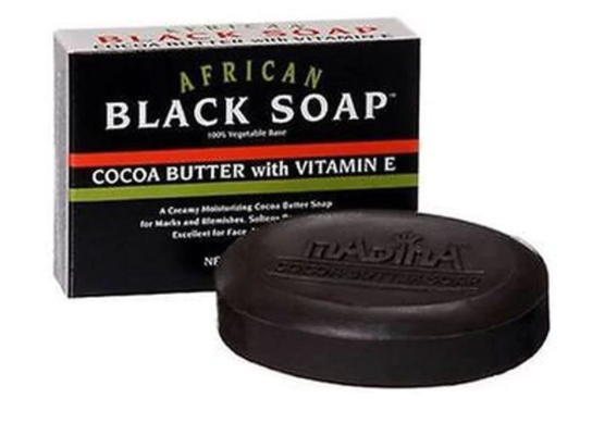 Madina African Black Soap Cocoa Butter with Vitamin E