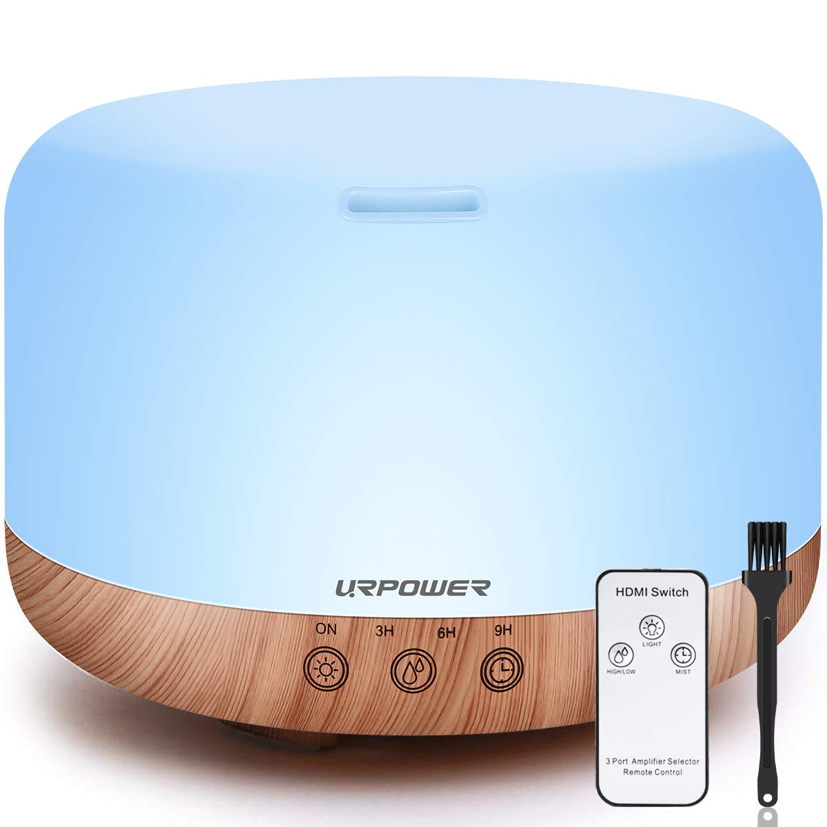 Urpower 1000ml Essential Oil Diffuser Humidifiers Remote Control Ultrasonic Aromatherapy
