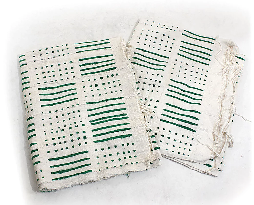 Mud Cloth Bambara (wht/gr...