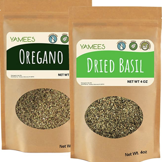 Yamees Dry Herbs  Oregano and Basil  Bulk Spices
