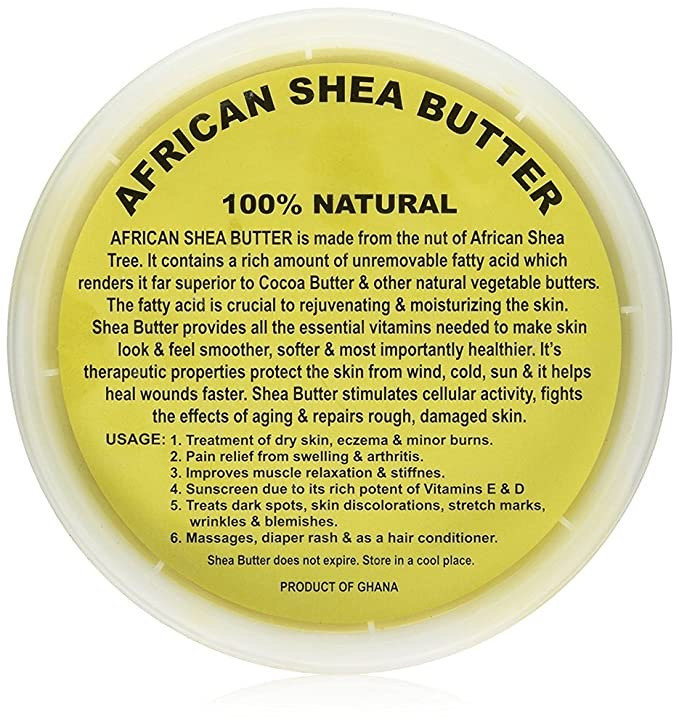 African Shea Butter Pure Raw Unrefined From Ghana 8 oz