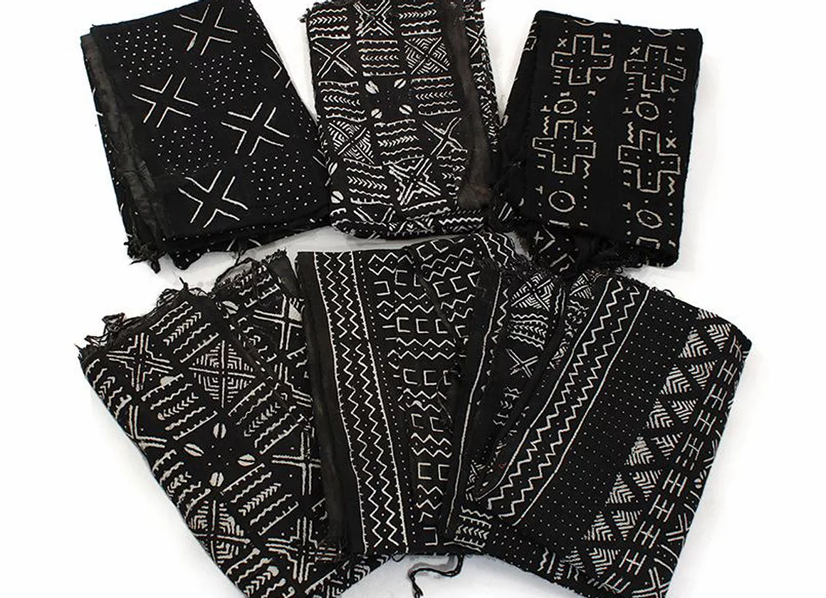 Mud Cloth Bambara (blk/wh...