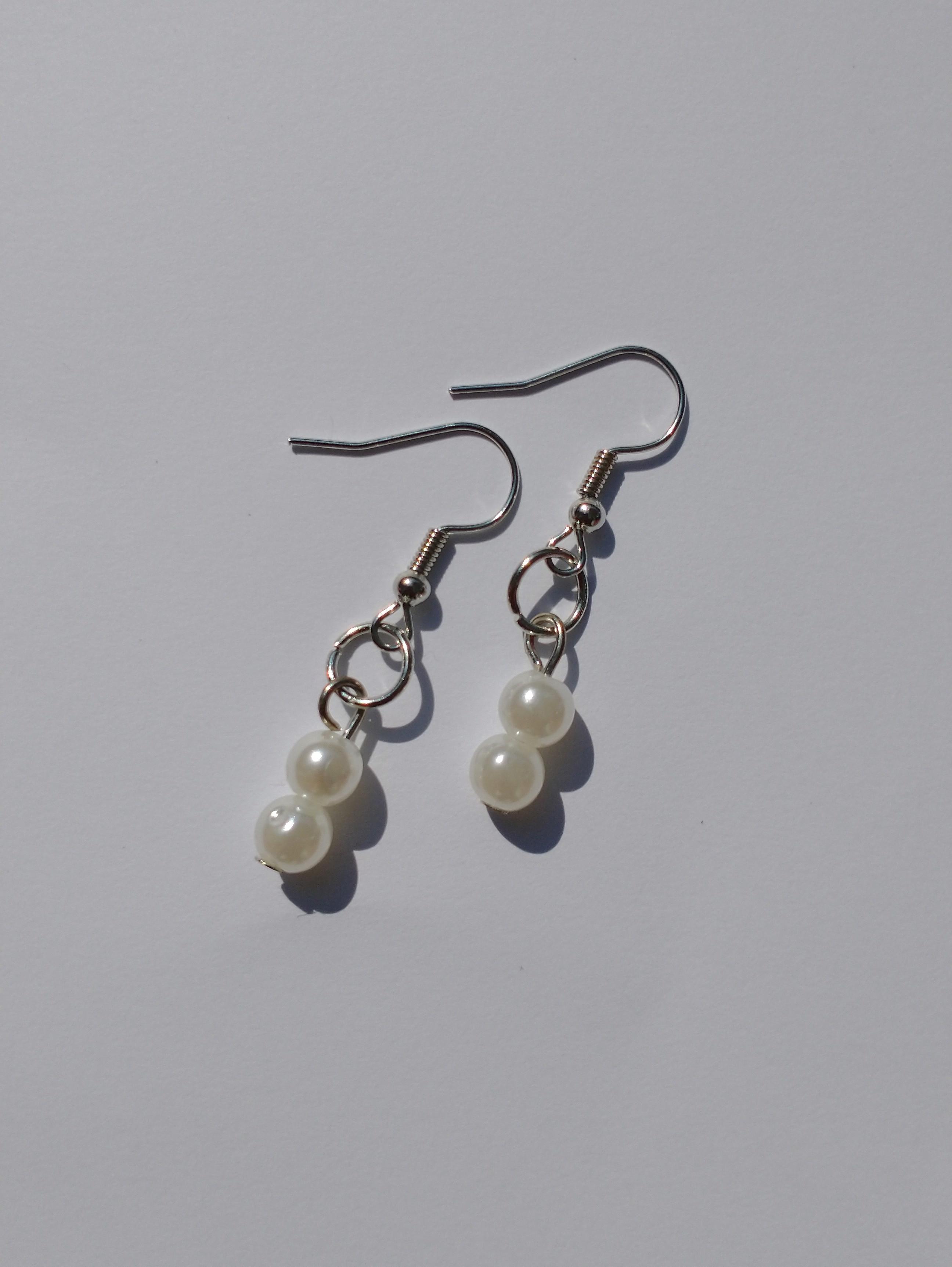 Pearl Beaded Earrings