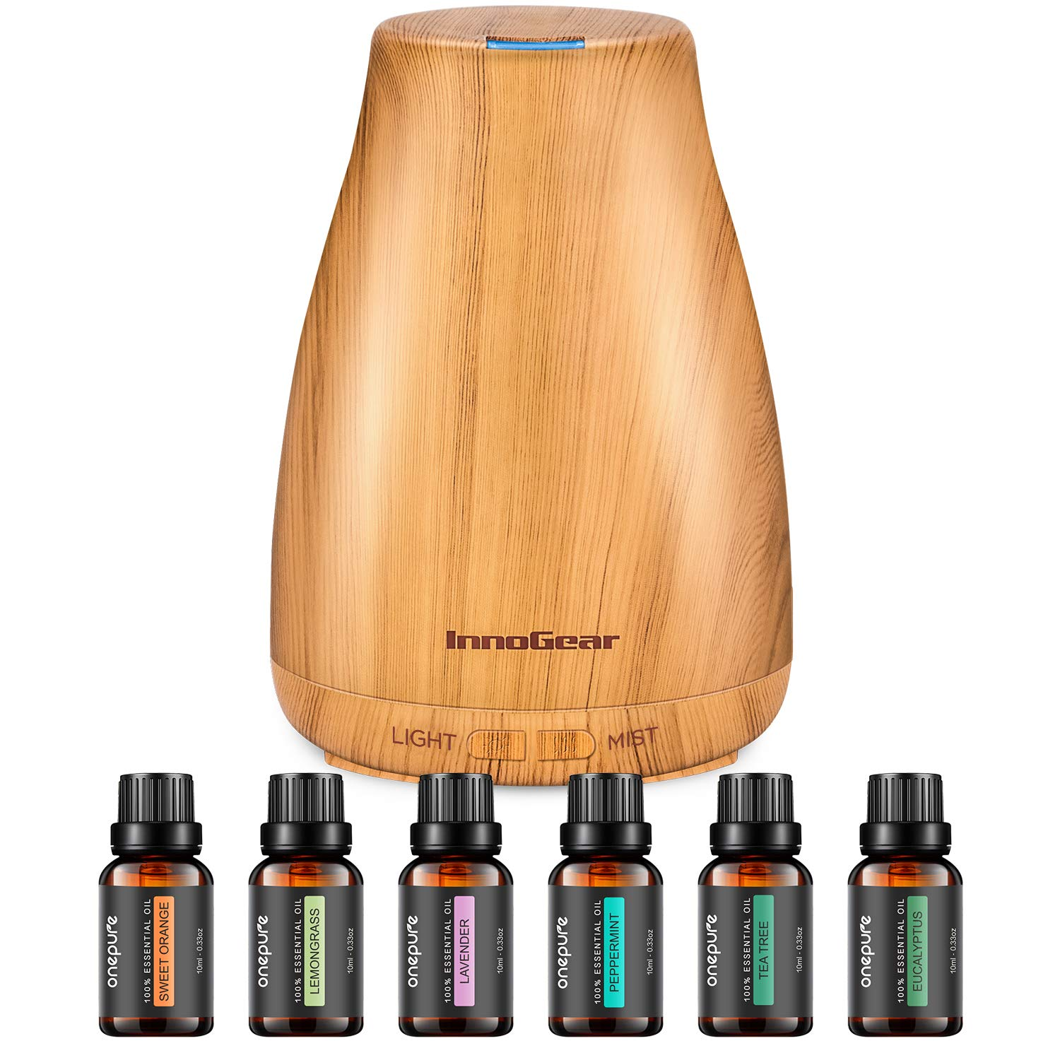 InnoGear 150 ml Aromatherapy Diffuser with 6 Scents of Essential Oil