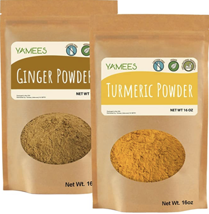 Yamees Bulk Indian Spices - BULK Ginger and Turmeric