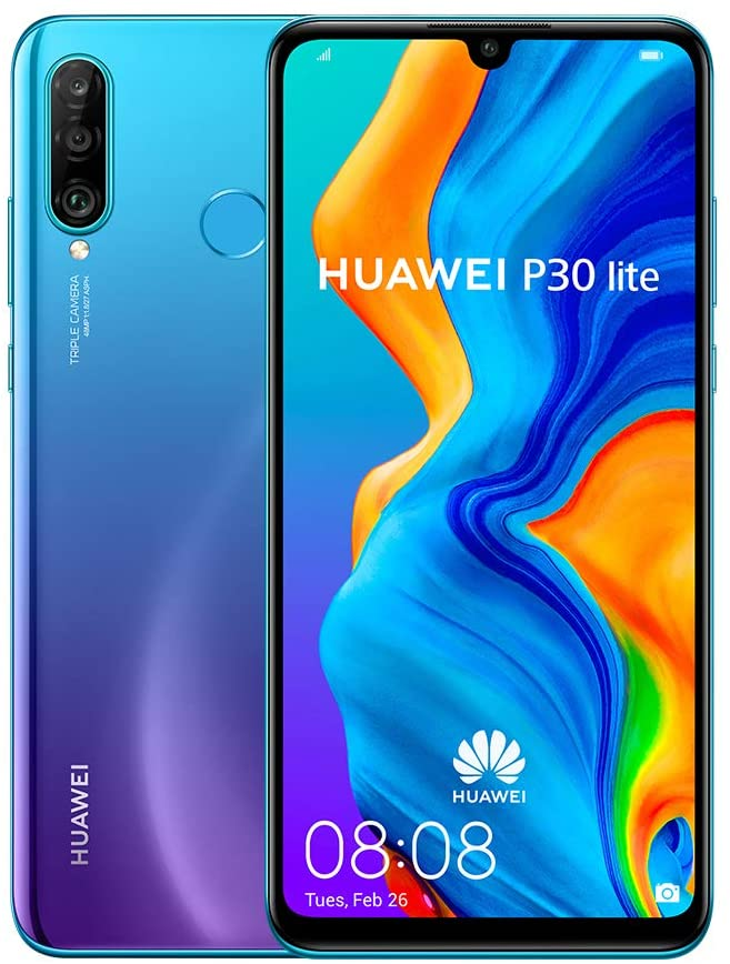 Huawei P30 Lite, 128GB, 4GB RAM), 6.15 inches, Dual SIM Global GSM (Factory Unlocked)