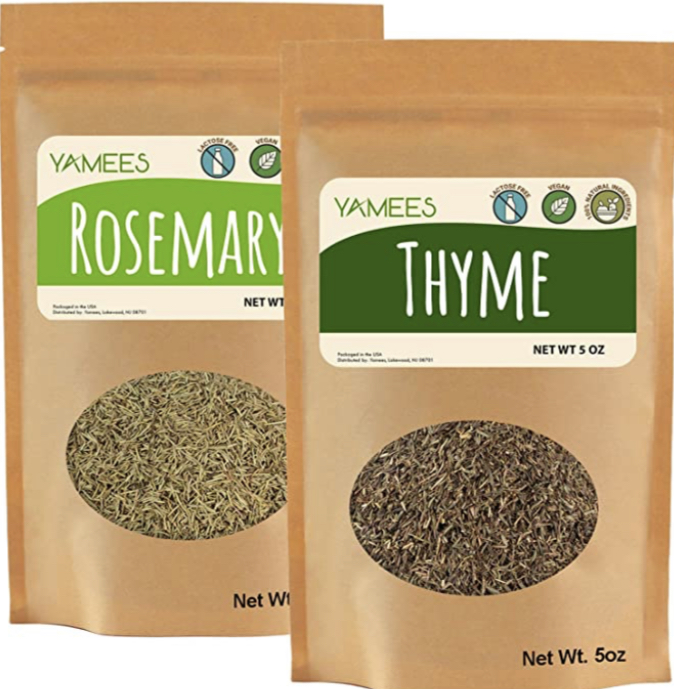 Yamees Thyme-Rosemary-Dried Thyme and Rosemary-Bulk Spices-2 Pack of 5 Oz Each